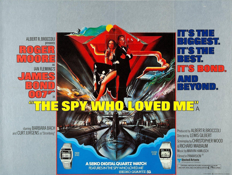 The Spy Who Loved Me British Quad (30x40) Original Vintage Movie Poster
