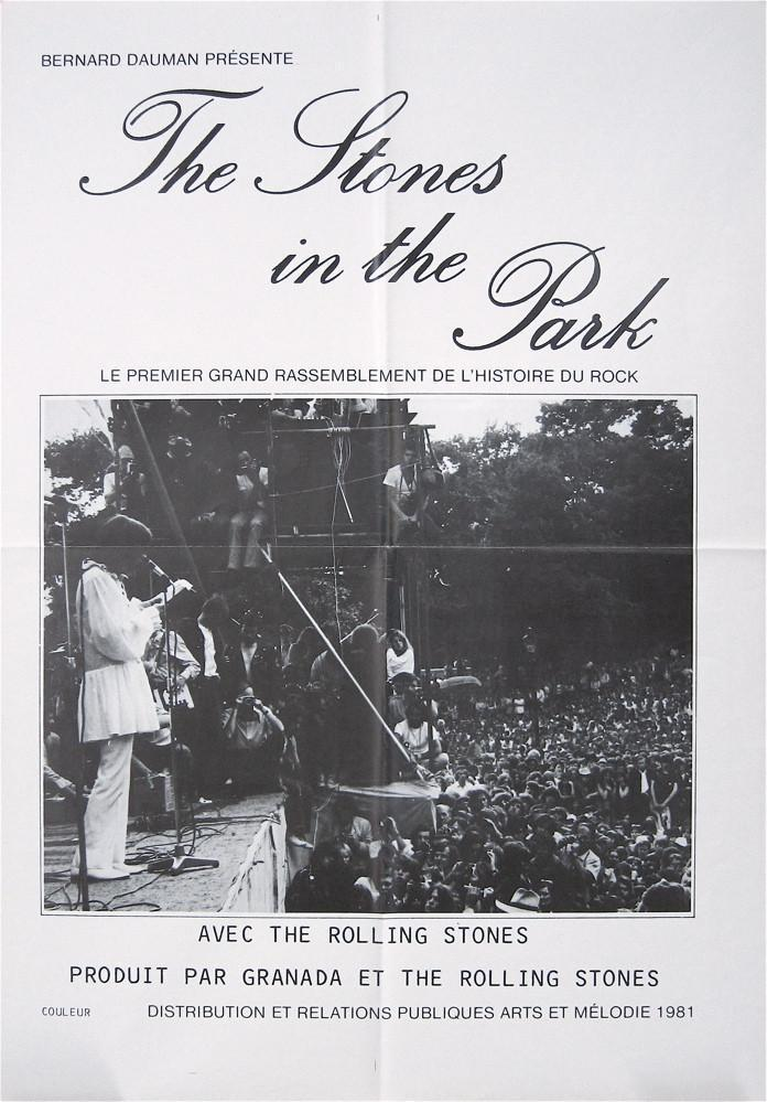 The Stones In the Park French mini (16x23) Original Vintage Movie Poster