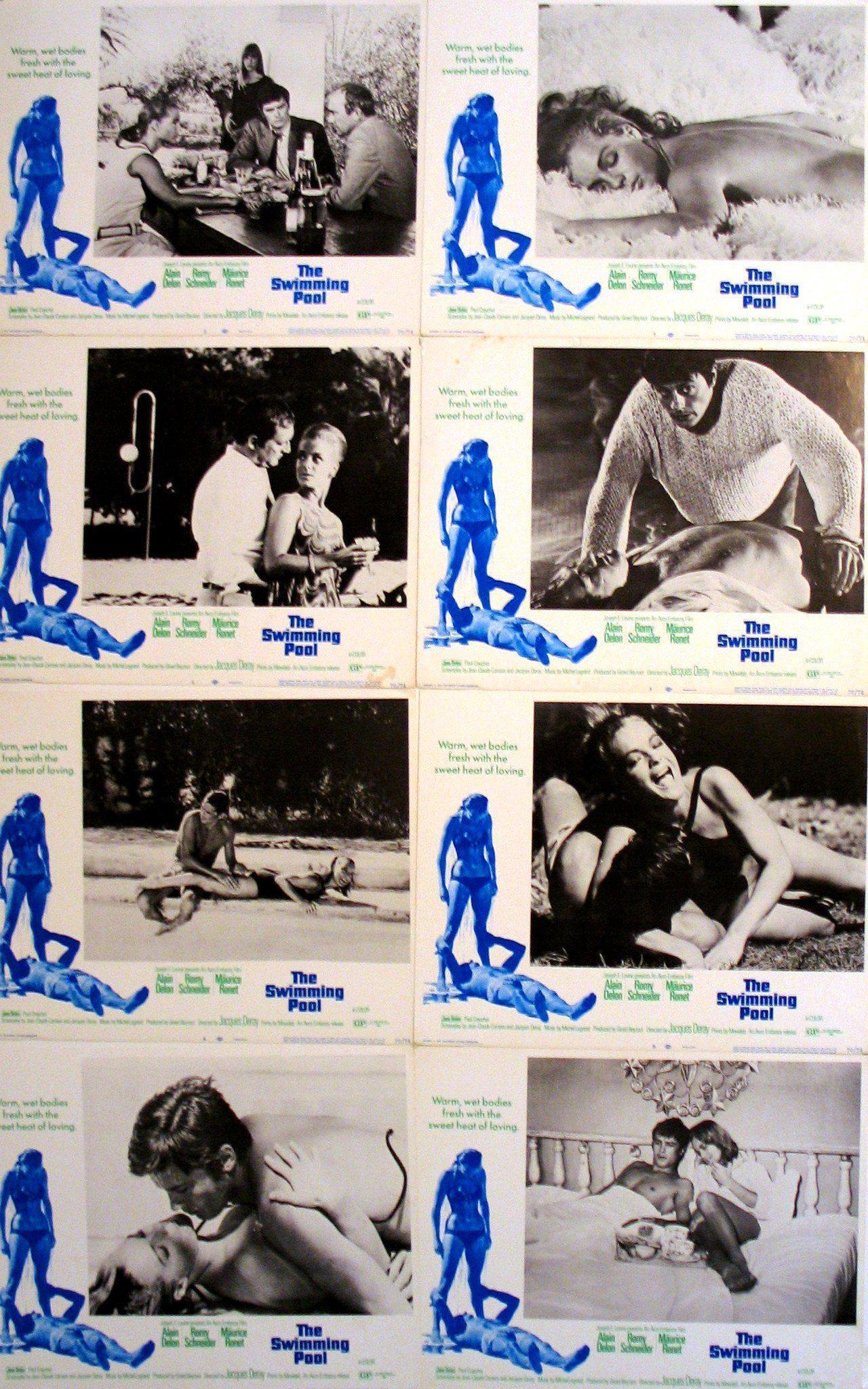 The Swimming Pool (La Piscine) Lobby Card Set Original Vintage Movie Poster