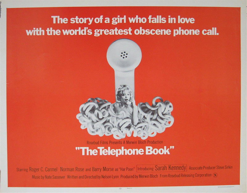 The Telephone Book Half sheet (22x28) Original Vintage Movie Poster