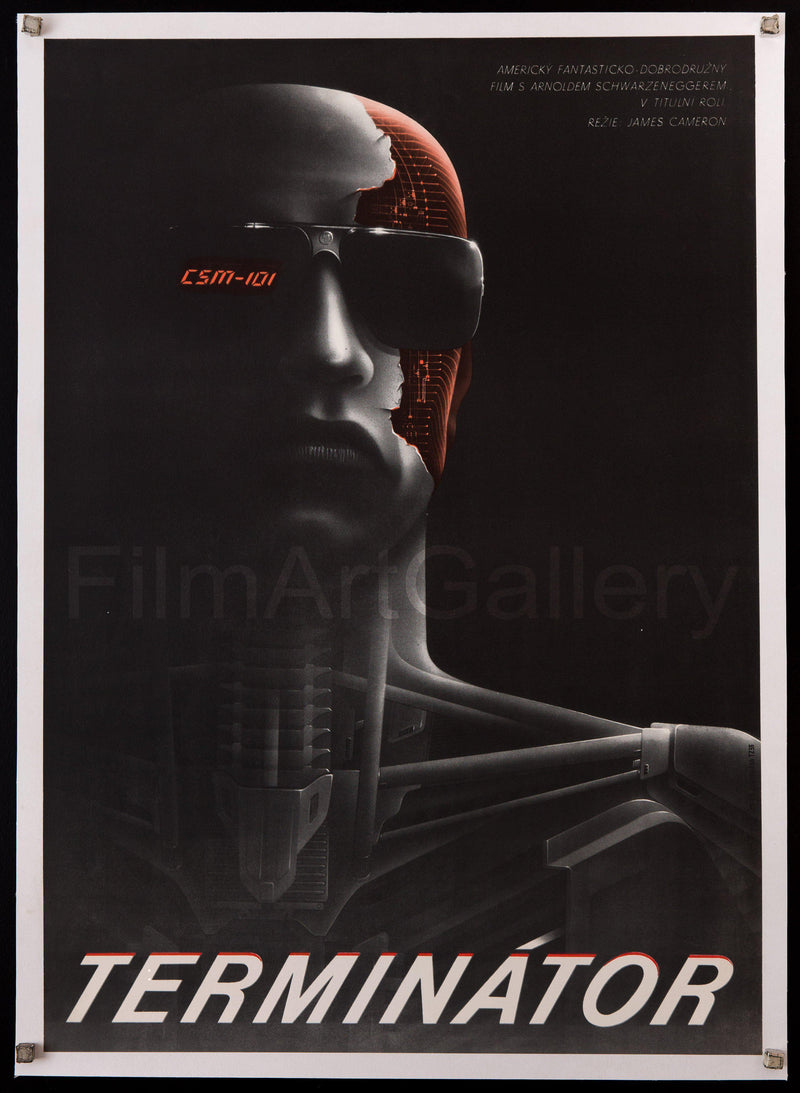 The Terminator Czech (23x33) Original Vintage Movie Poster