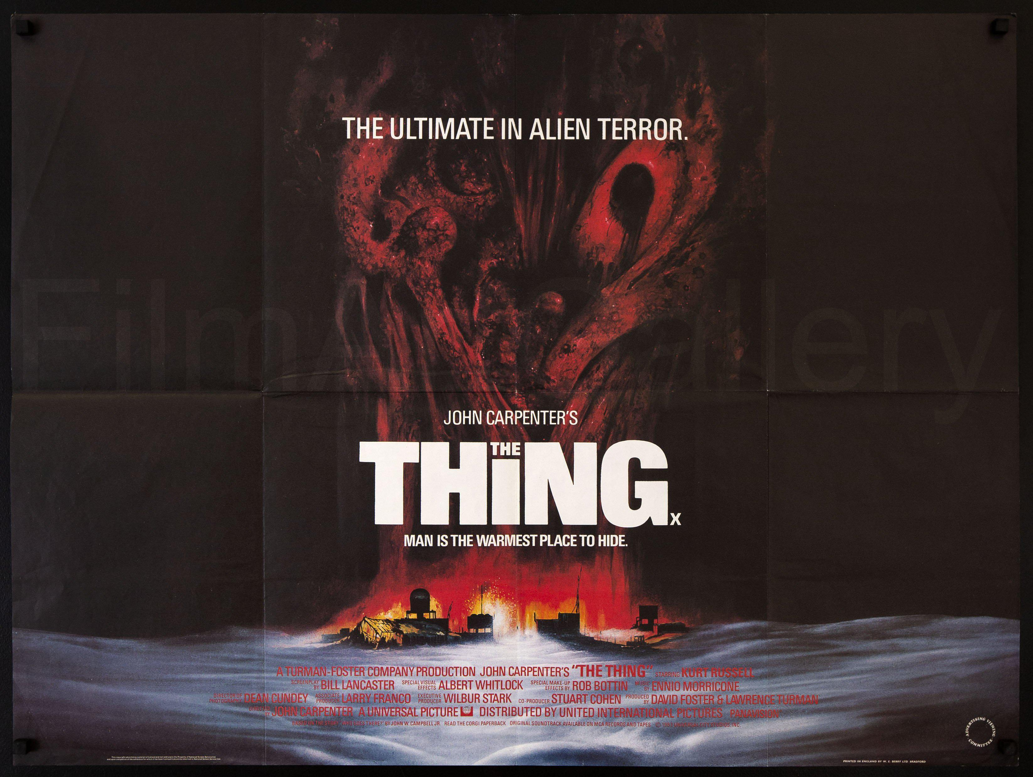 The Thing British Quad (30x40) Original Vintage Movie Poster