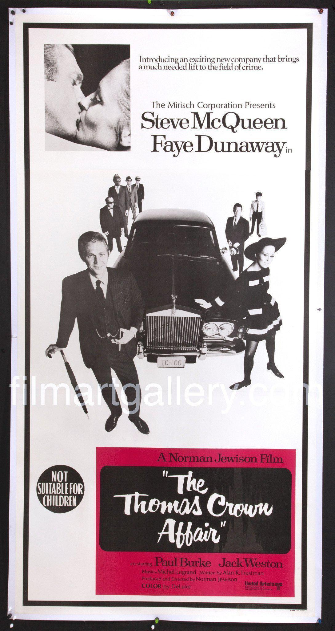 The Thomas Crown Affair 3 Sheet (41x81) Original Vintage Movie Poster