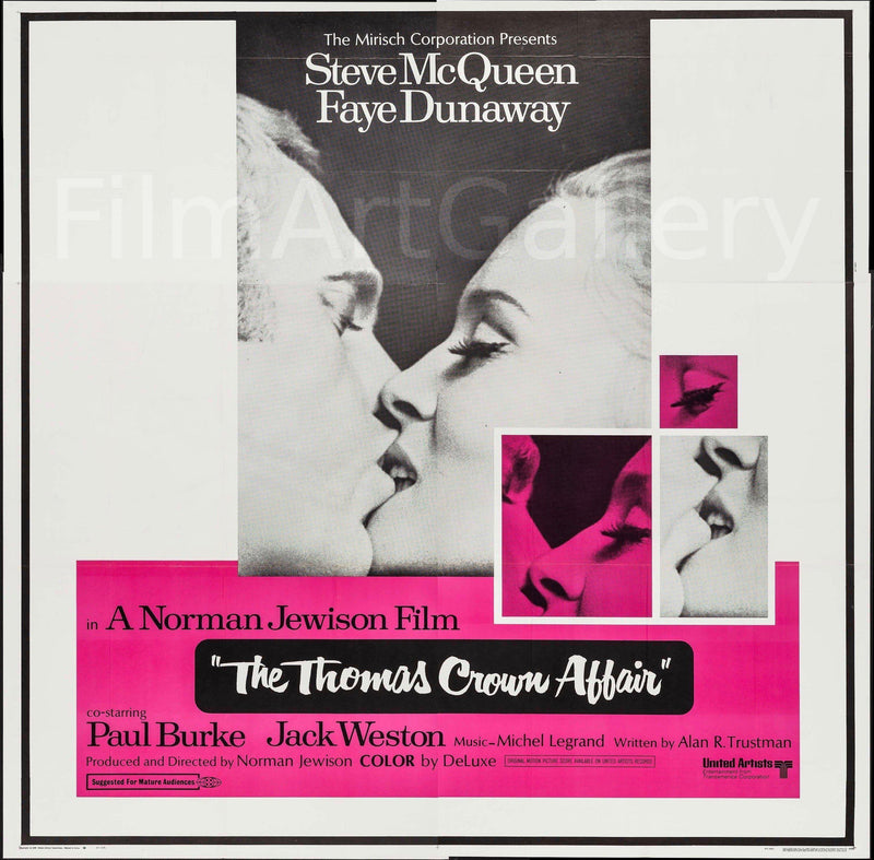 The Thomas Crown Affair 6 Sheet (81x81) Original Vintage Movie Poster