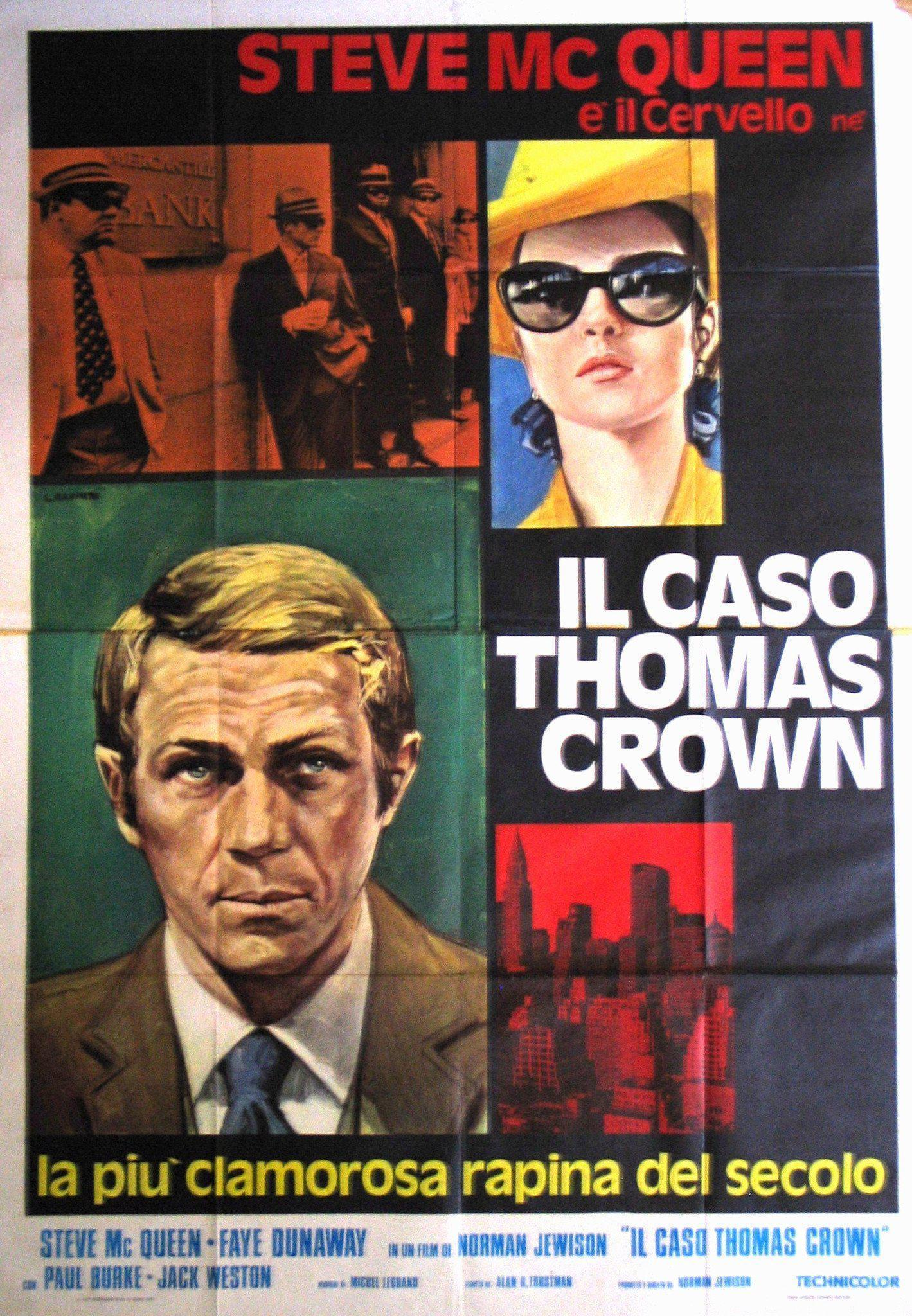 The Thomas Crown Affair Italian 4 foglio (55x78) Original Vintage Movie Poster