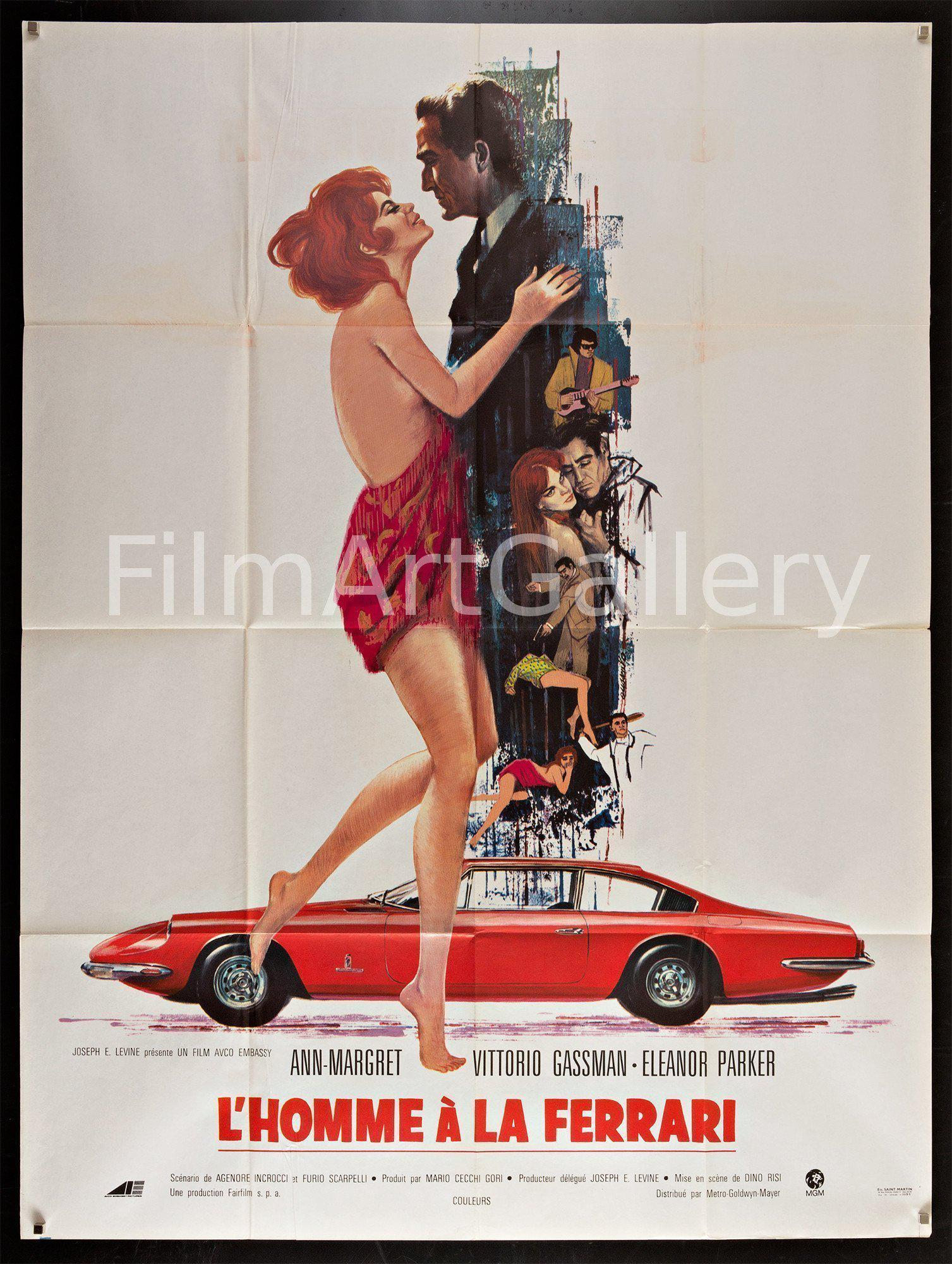 The Tiger and the Pussycat (L'Homme A La Ferrari) French 1 panel (47x63) Original Vintage Movie Poster