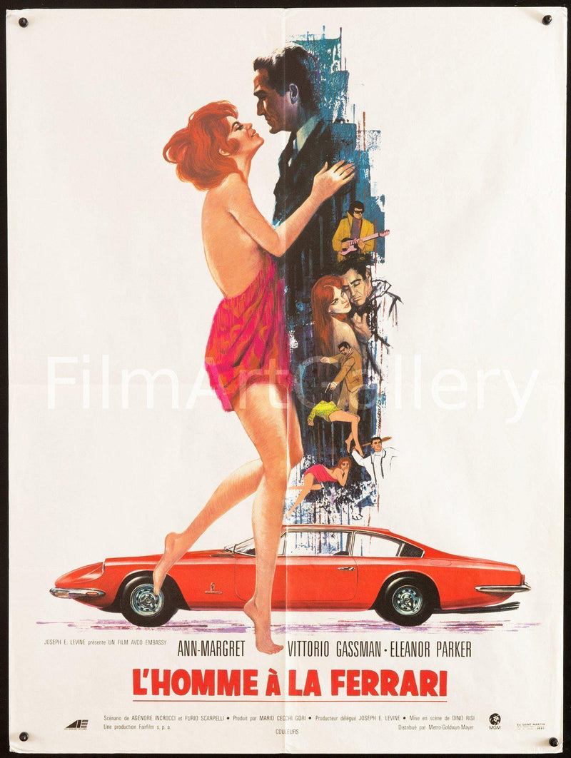 The Tiger and the Pussycat (L'Homme A La Ferrari) French small (23x32) Original Vintage Movie Poster