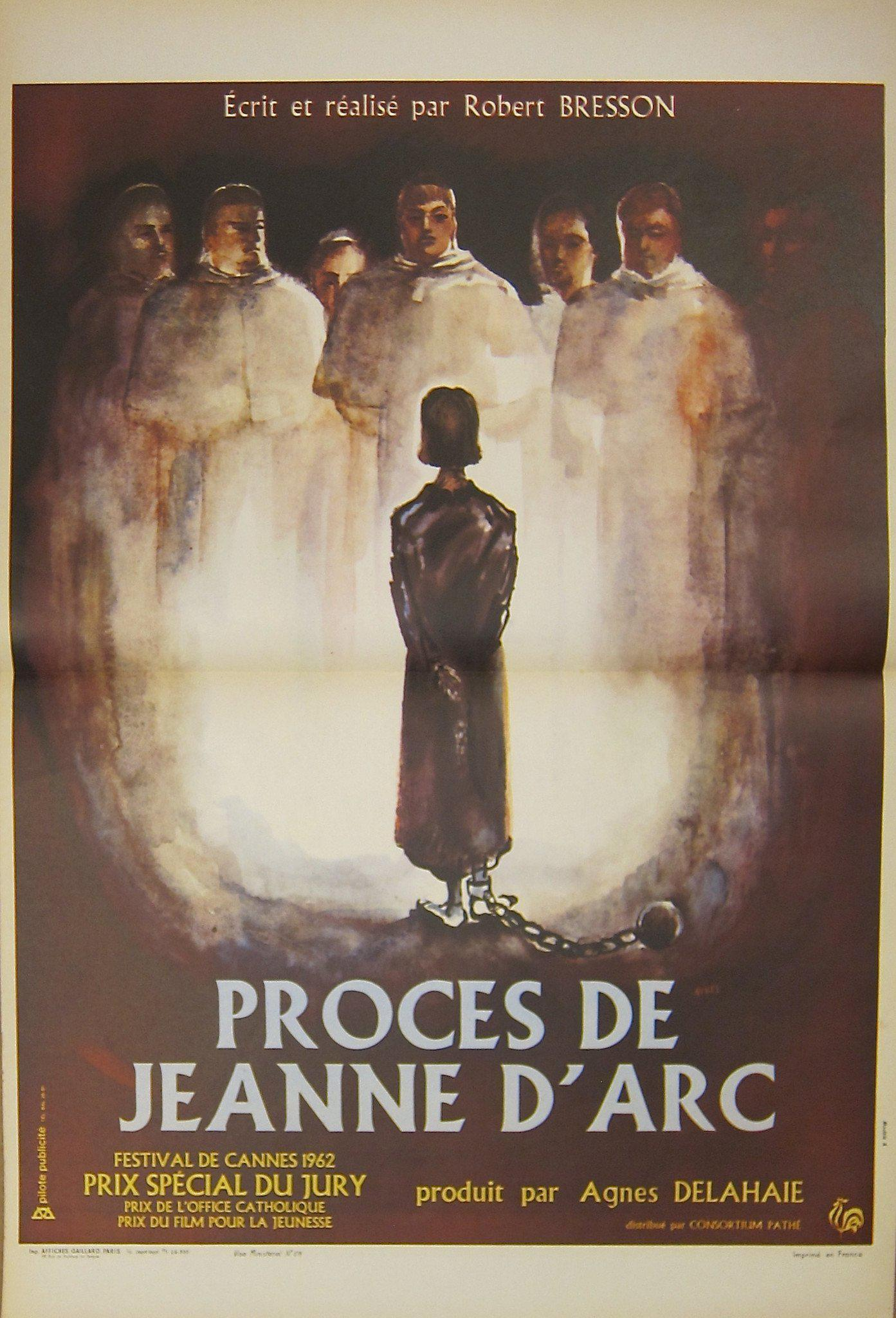 The Trial of Joan of Arc (Proces De Jeanne D'Arc) French mini (16x23) Original Vintage Movie Poster