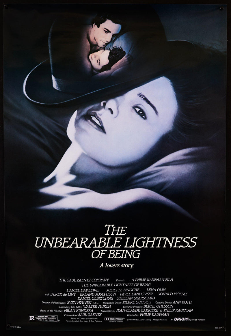 The Unbearable Lightness of Being 1 Sheet (27x41) Original Vintage Movie Poster