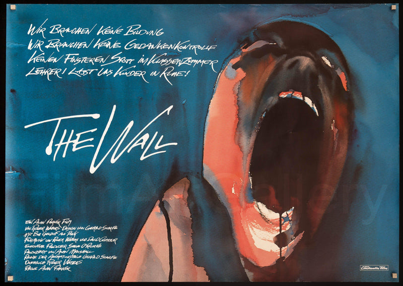 The Wall German A0 (33x46) Original Vintage Movie Poster