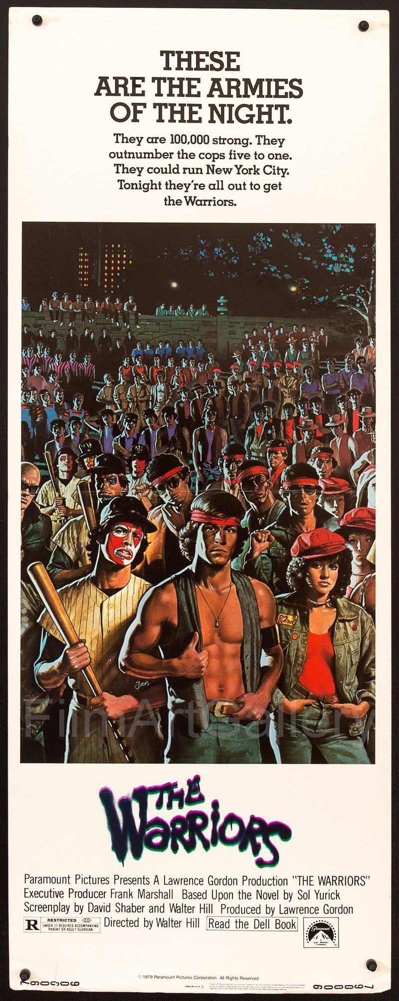 The Warriors Insert (14x36) Original Vintage Movie Poster