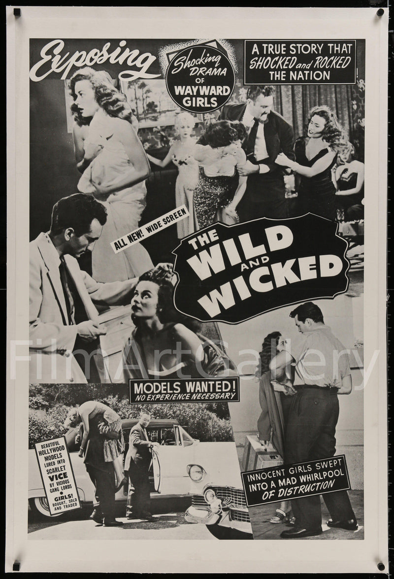 The Wild and Wicked (Flesh Merchant) 1 Sheet (27x41) Original Vintage Movie Poster