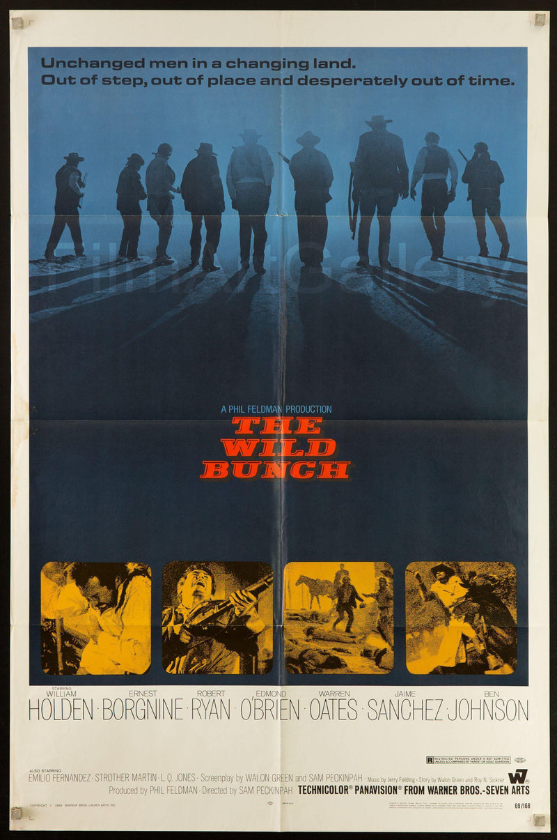 The Wild Bunch 1 Sheet (27x41) Original Vintage Movie Poster