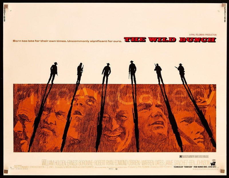 The Wild Bunch Half Sheet (22x28) Original Vintage Movie Poster