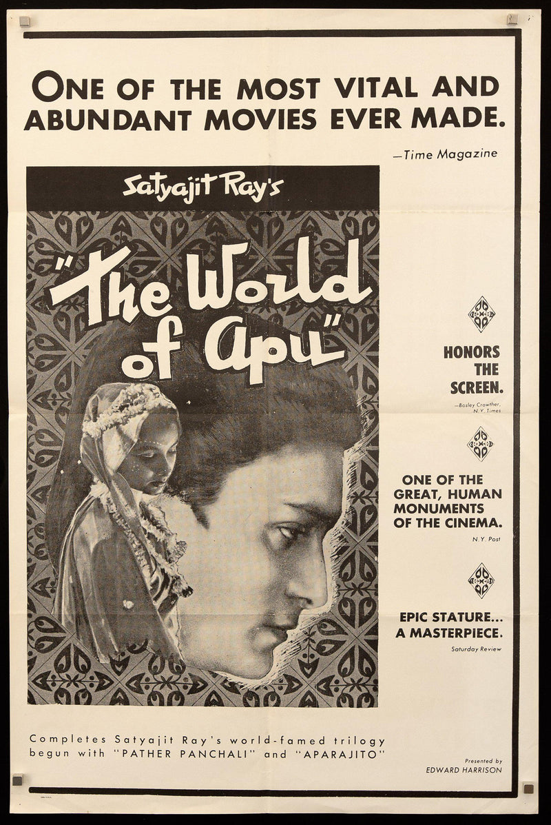 The World of Apu 1 Sheet (27x41) Original Vintage Movie Poster