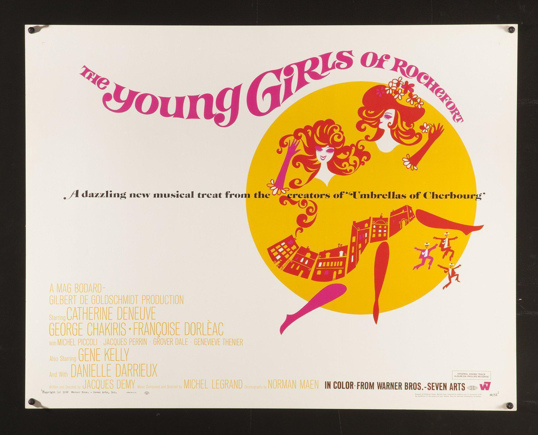 The Young Girls of Rochefort Half sheet (22x28) Original Vintage Movie Poster