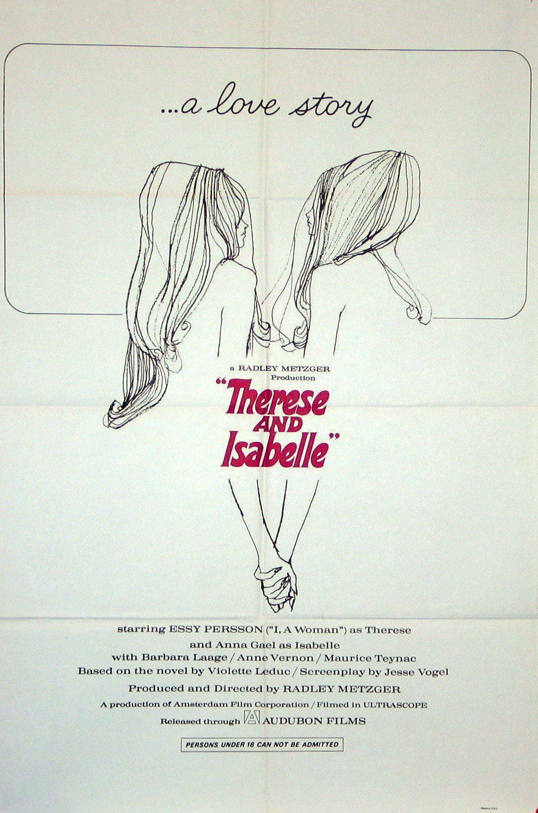 Therese and Isabelle 1 Sheet (27x41) Original Vintage Movie Poster