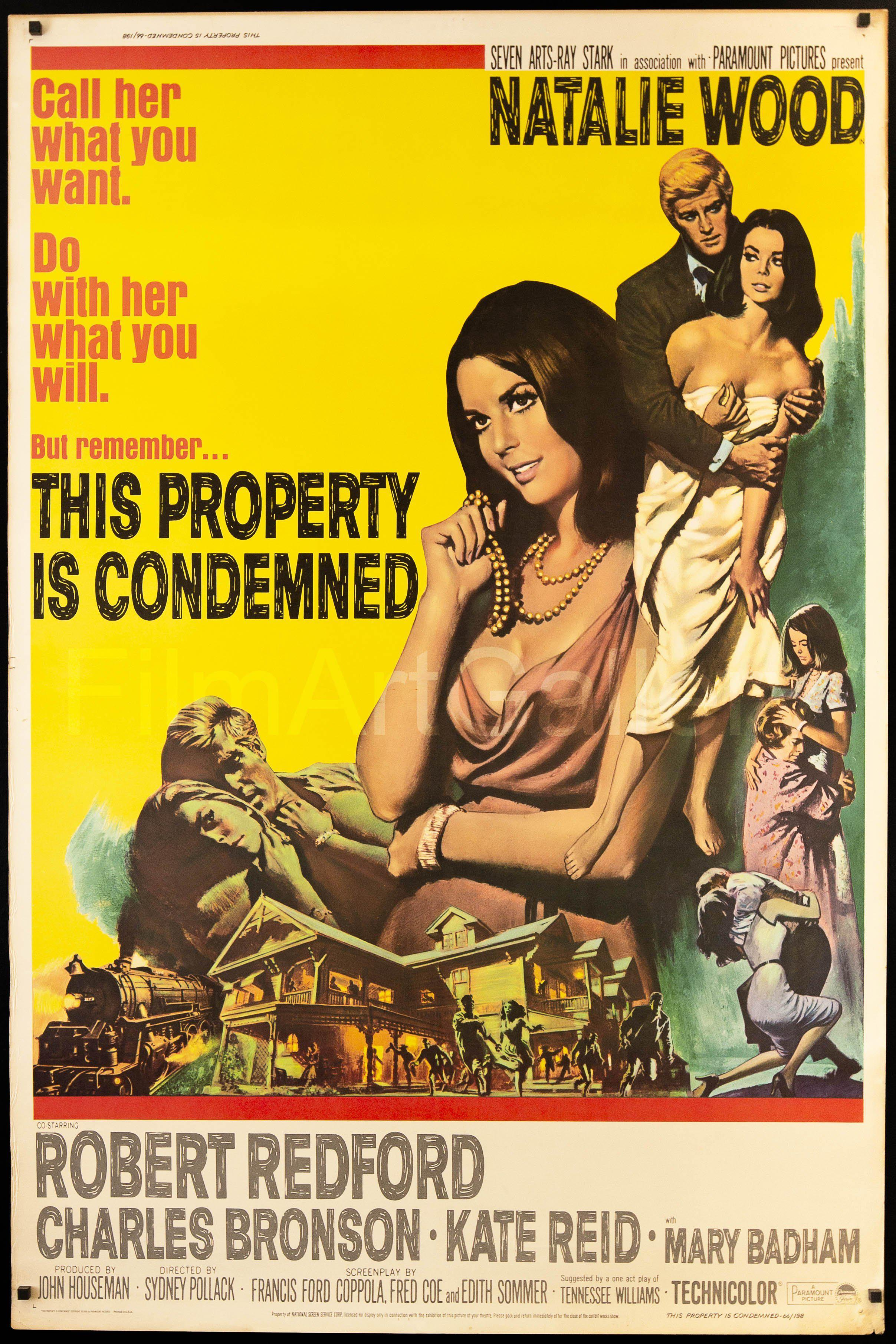 This Property Is Condemned Movie Poster | 40x60 Original Vintage Movie  Poster