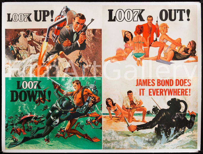 Thunderball British Quad (30x40) Original Vintage Movie Poster