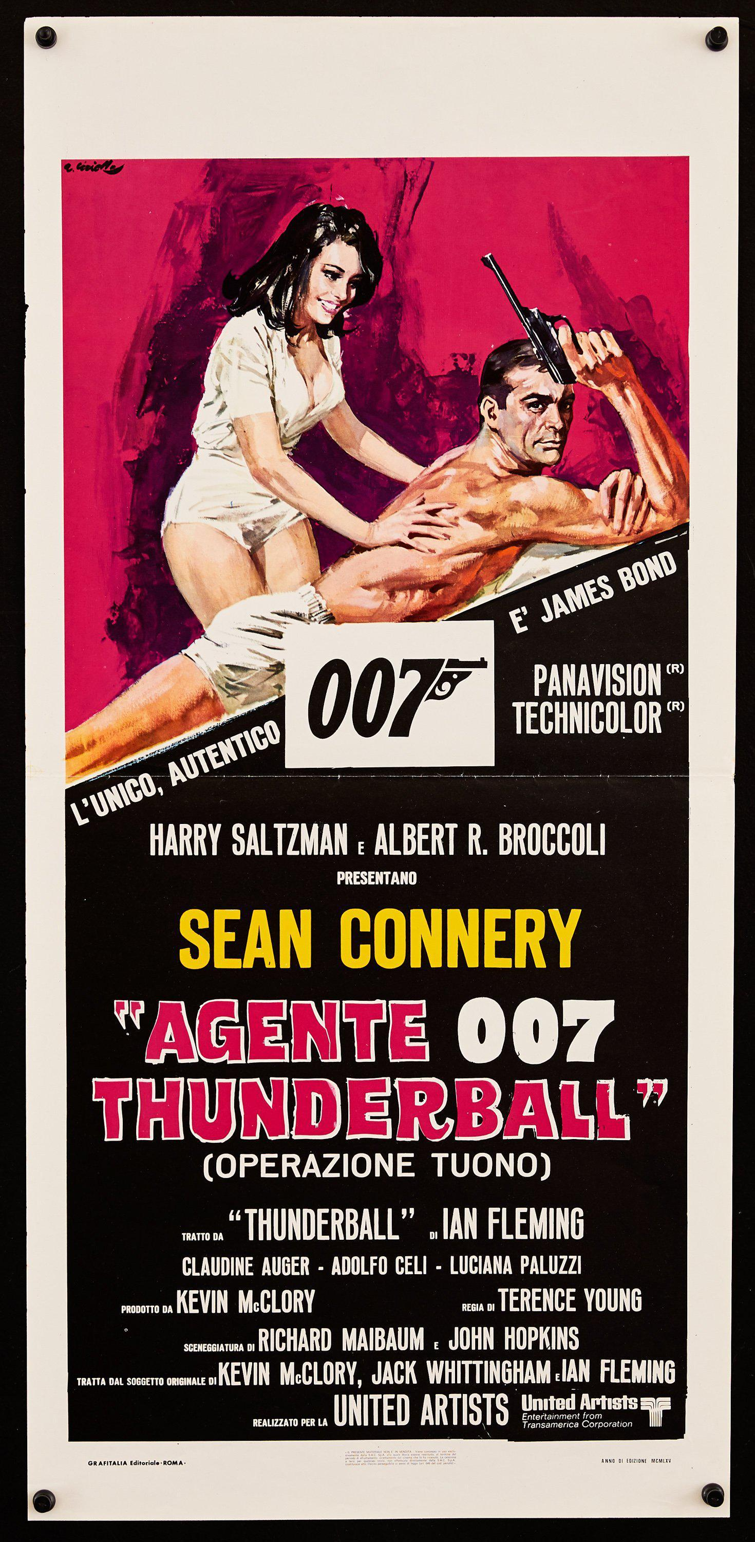 Thunderball Italian Locandina (13x28) Original Vintage Movie Poster