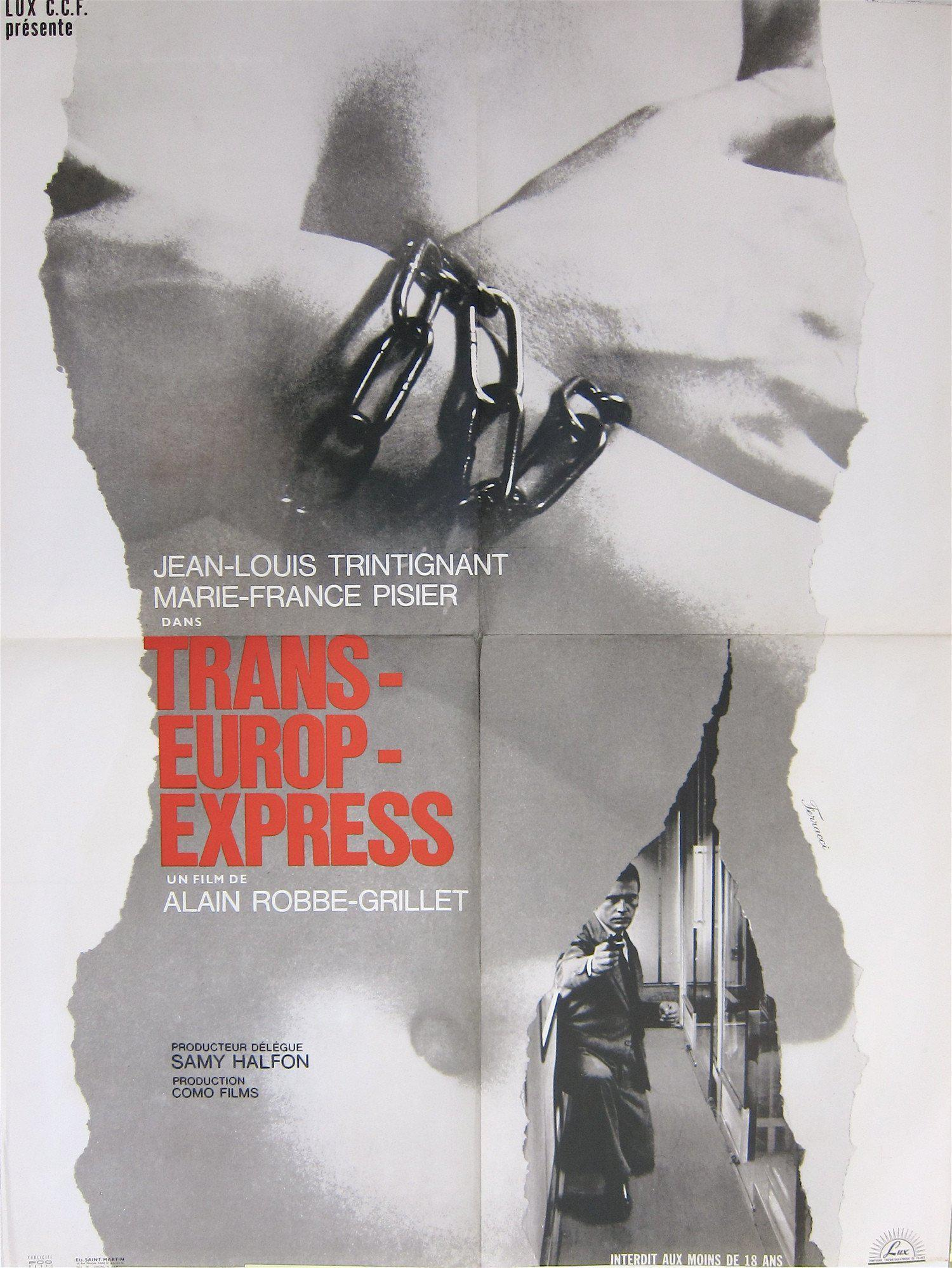 Trans Europ Express French small (23x32) Original Vintage Movie Poster
