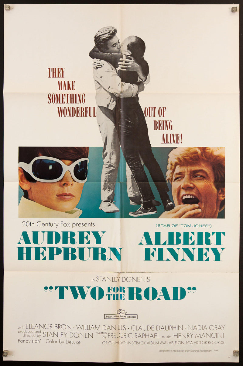 Two for the Road 1 Sheet (27x41) Original Vintage Movie Poster