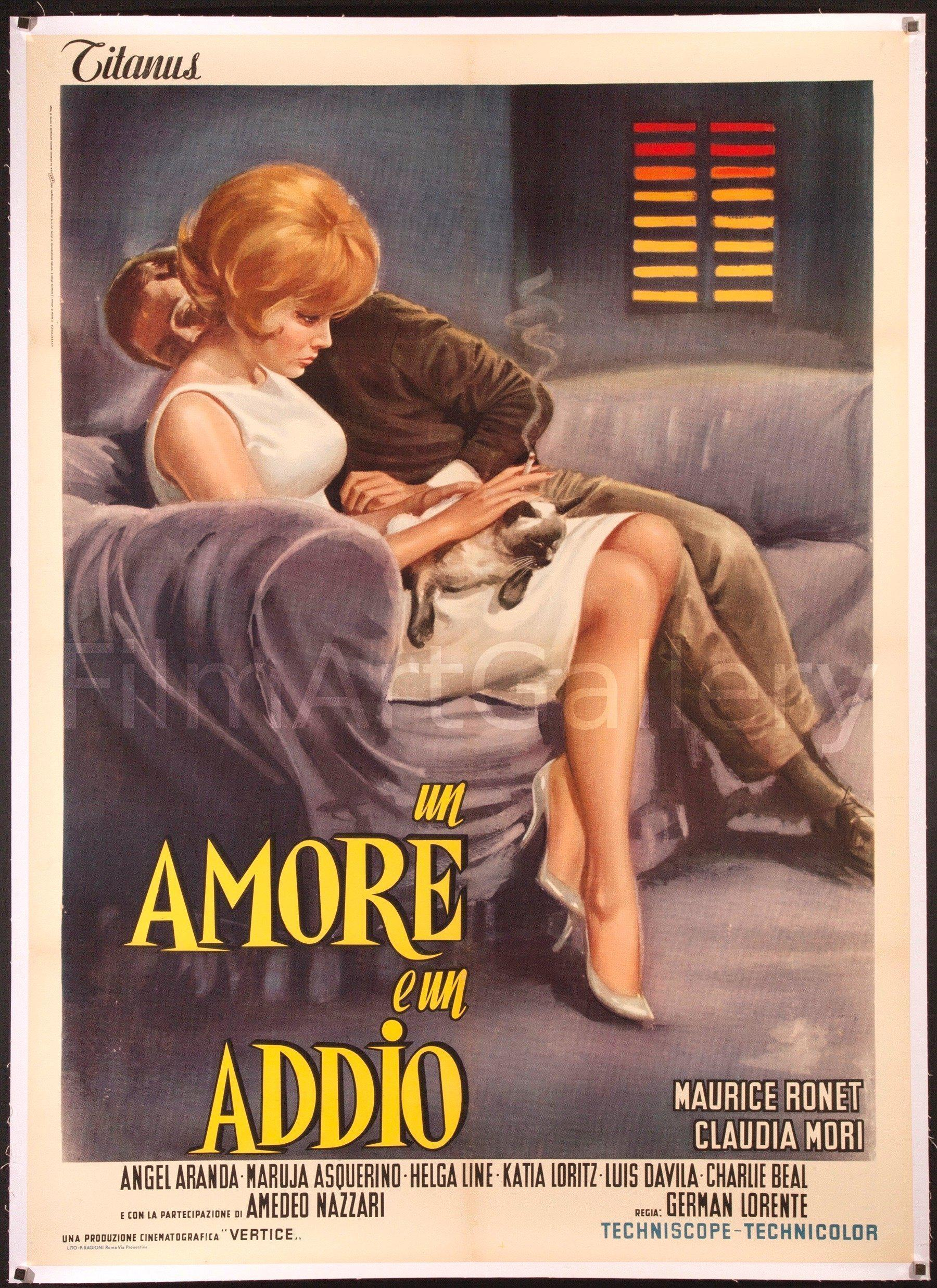 Un Amore E Un Addio Italian 2 foglio (39x55) Original Vintage Movie Poster