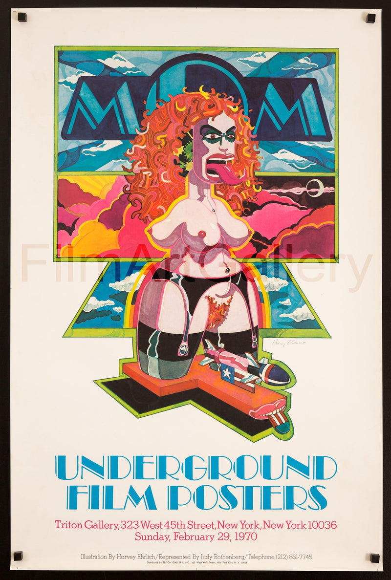 Underground Film Posters exhibition 25x38 Original Vintage Movie Poster