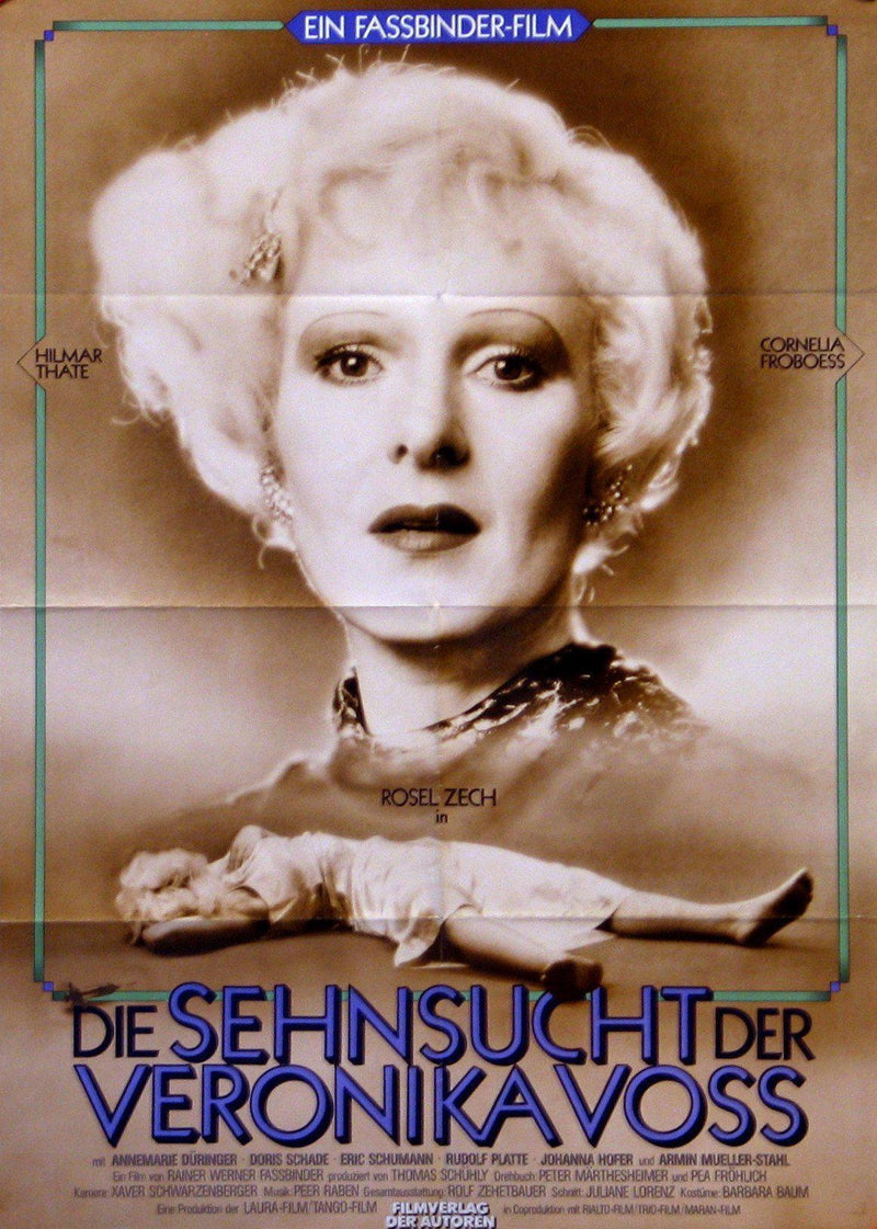 Veronika Voss German A1 (23x33) Original Vintage Movie Poster