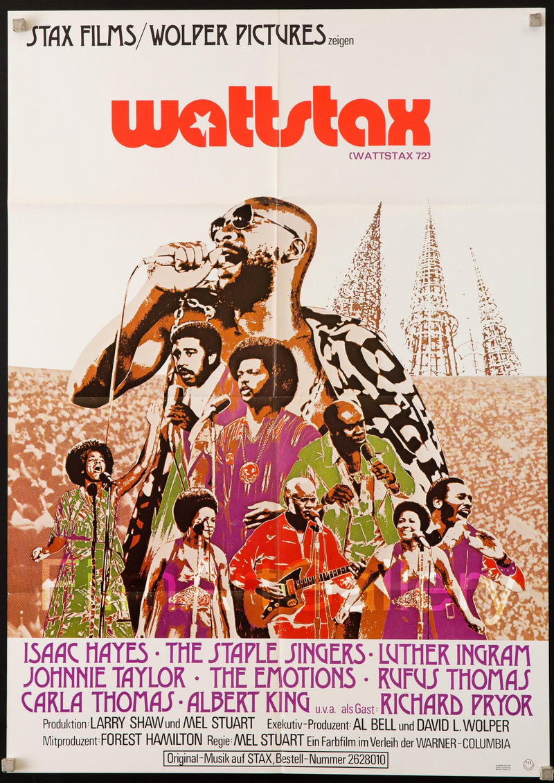 Wattstax German A1 (23X33) Original Vintage Movie Poster