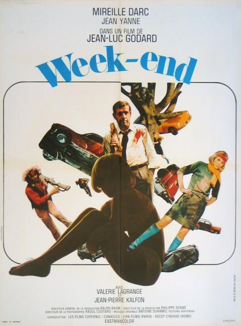 Weekend (Week End) French small (23x32) Original Vintage Movie Poster