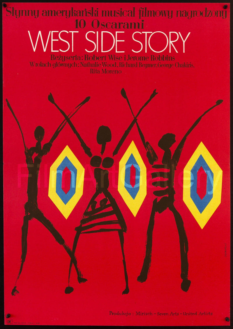 West Side Story Polish A1 (23x33) Original Vintage Movie Poster