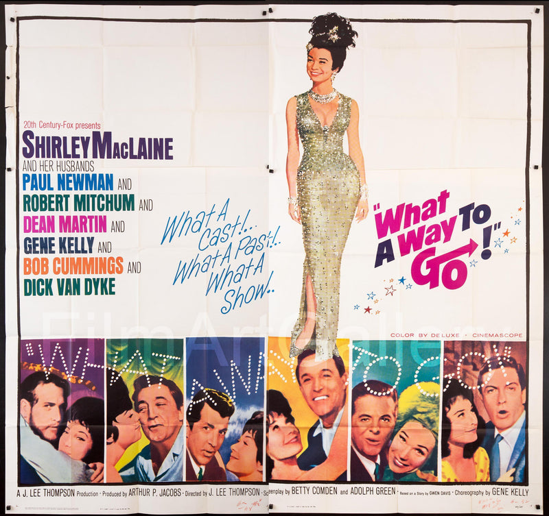 What a Way to Go 6 Sheet (81x81) Original Vintage Movie Poster