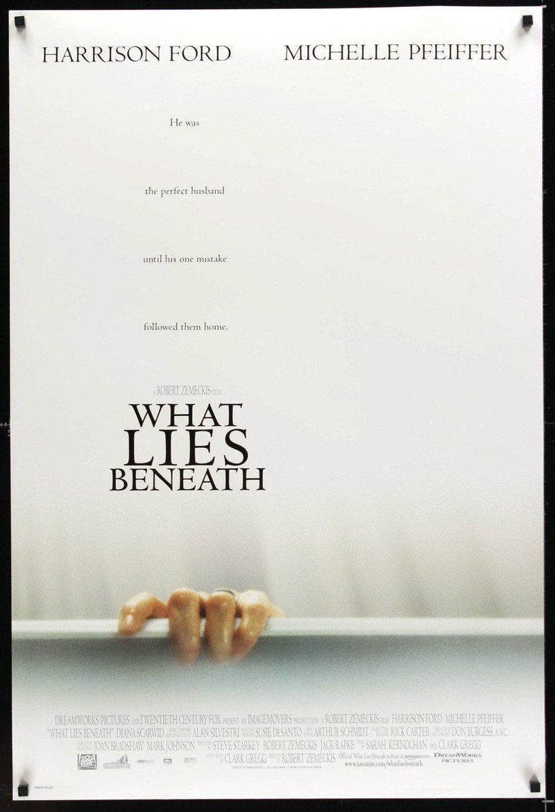 What Lies Beneath 1 Sheet (27x41) Original Vintage Movie Poster