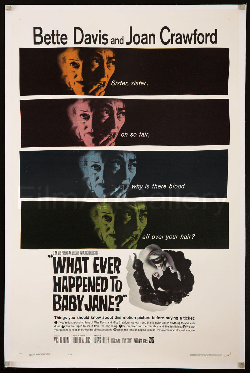 Whatever Happened to Baby Jane? Vintage Movie Poster | 1 ...