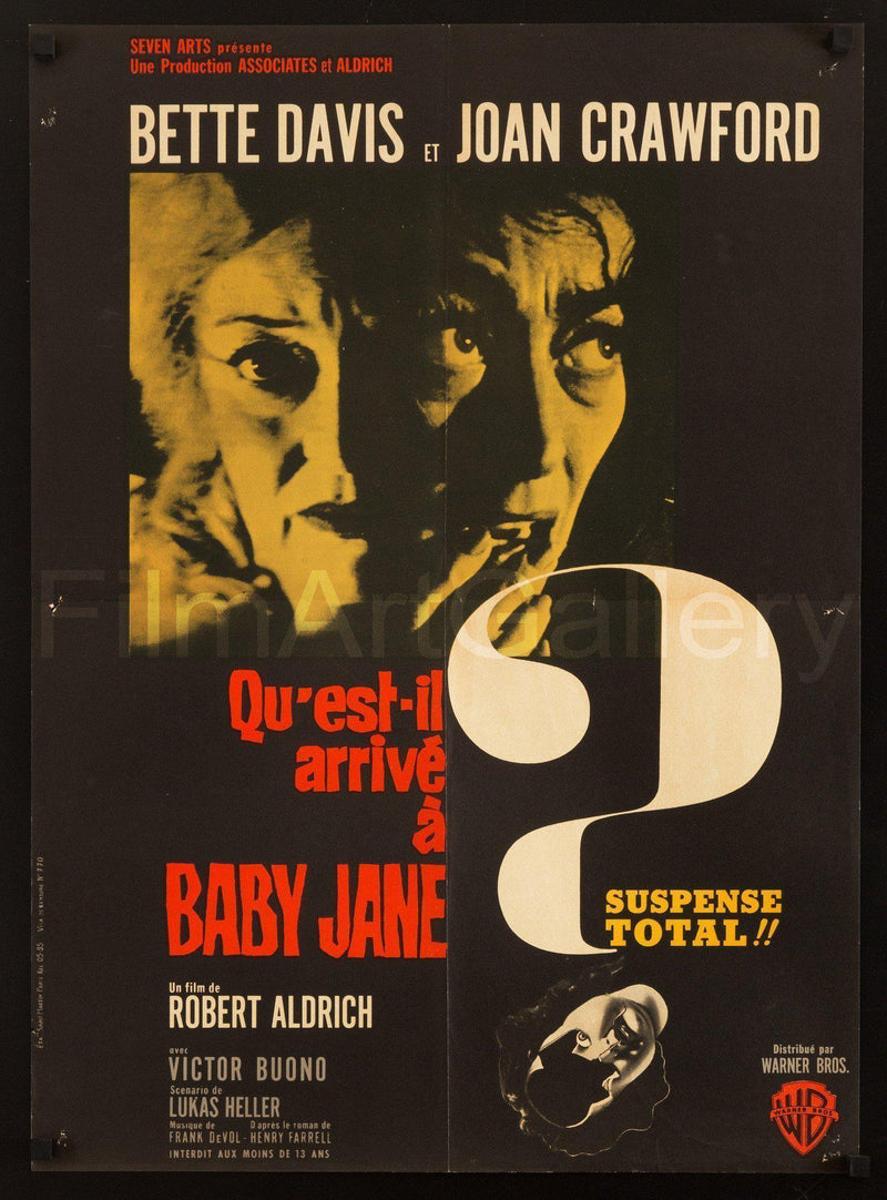 Whatever Happened to Baby Jane? French Small (23x32) Original Vintage Movie Poster
