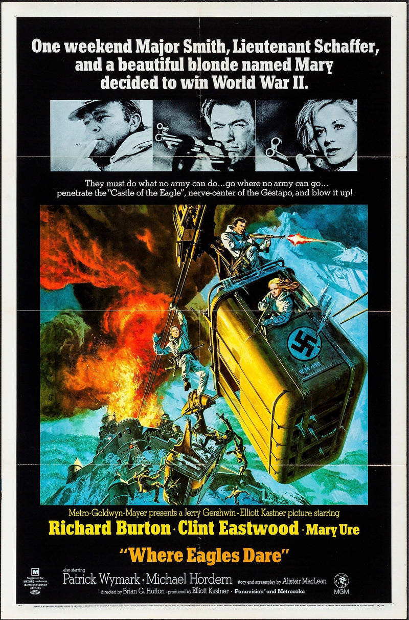 Where Eagles Dare 1 Sheet (27x41) Original Vintage Movie Poster