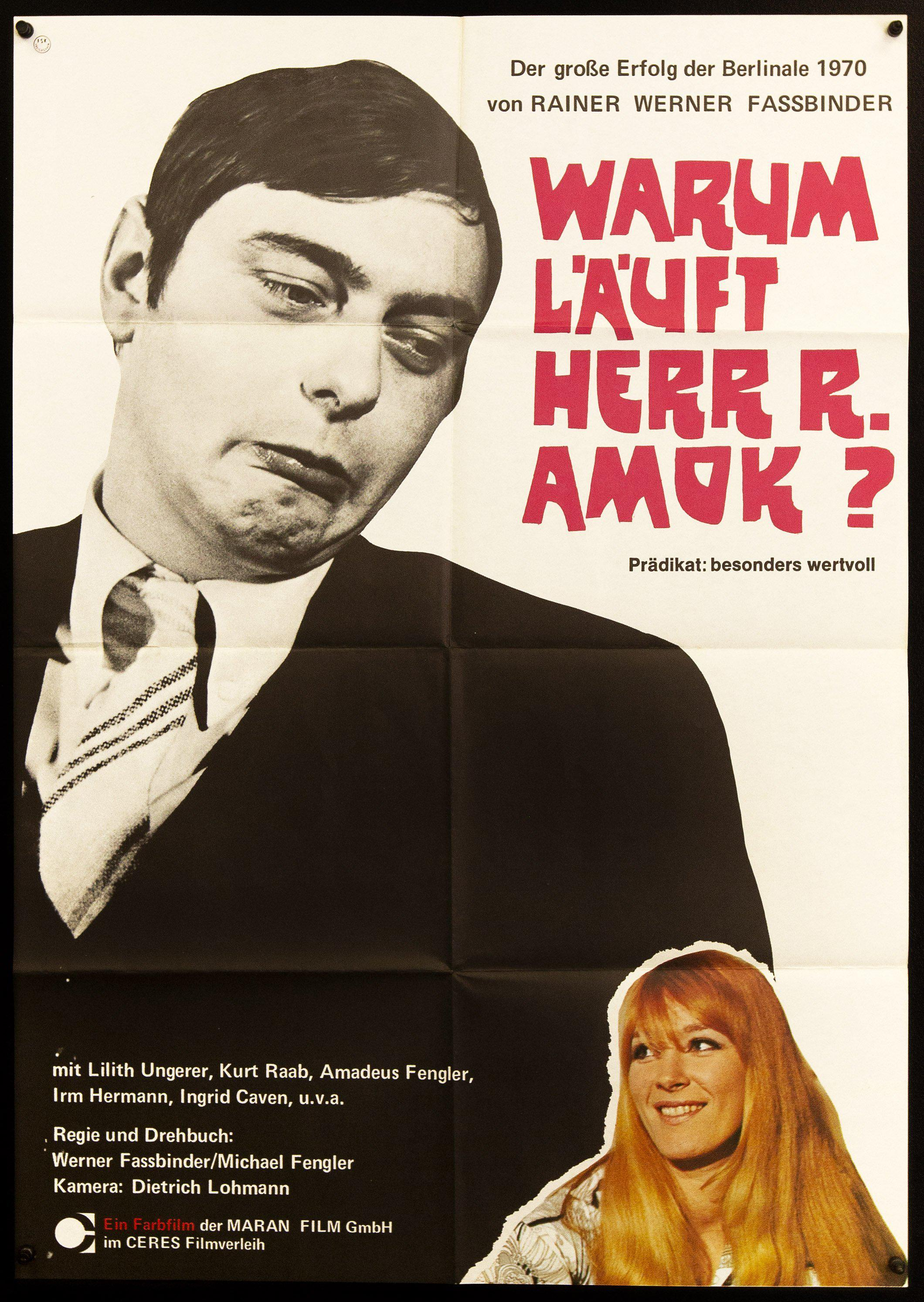 Why Does Herr R. Run Amok German A1 (23x33) Original Vintage Movie Poster