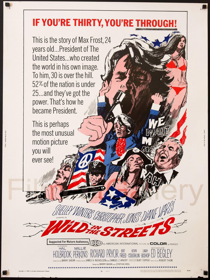 Wild in the Streets U.S. 30x40 Original Vintage Movie Poster