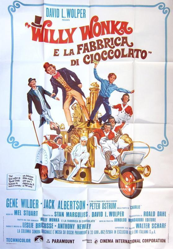 Willy Wonka and the Chocolate Factory Italian 4 foglio (55x78) Original Vintage Movie Poster