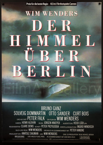 Wings of Desire German A0 (33x46) Original Vintage Movie Poster