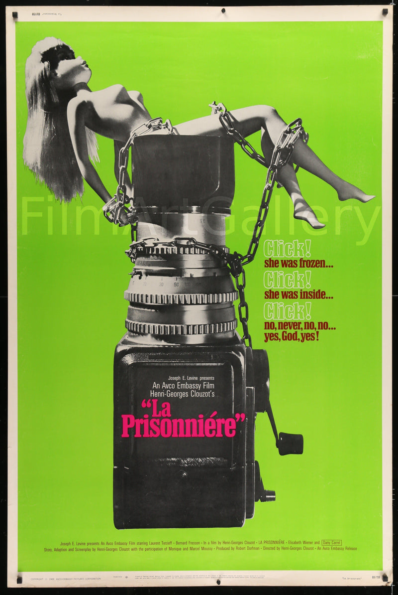 Woman In Chains (La Prisonniere) 40x60 Original Vintage Movie Poster