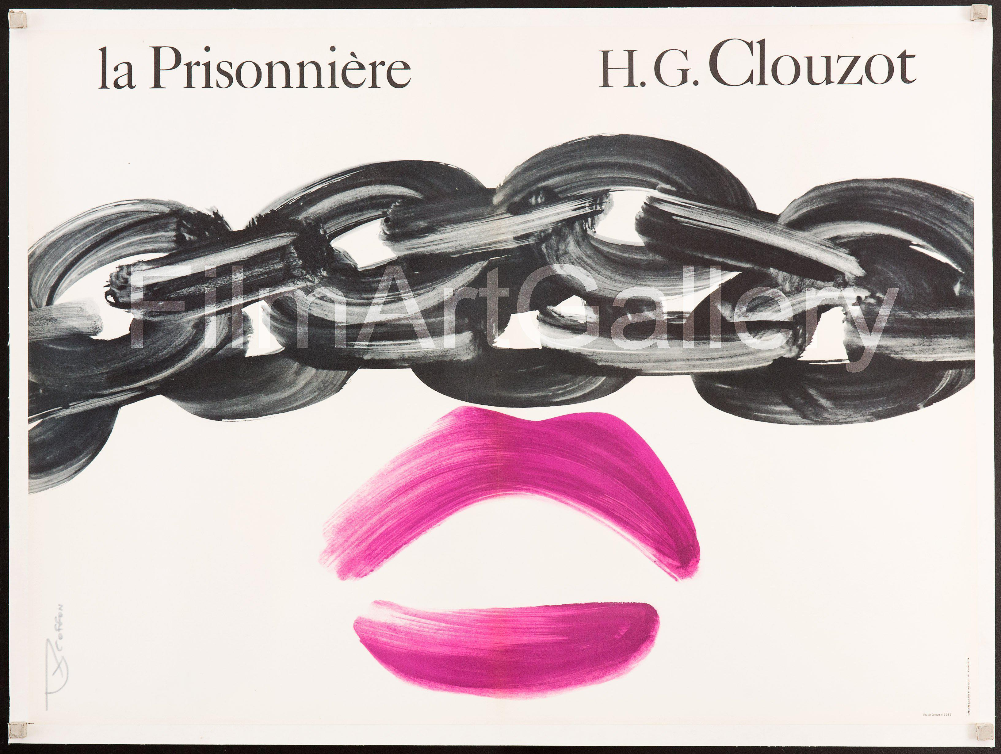 Woman In Chains (La Prisonniere) French small (23x32) Original Vintage Movie Poster