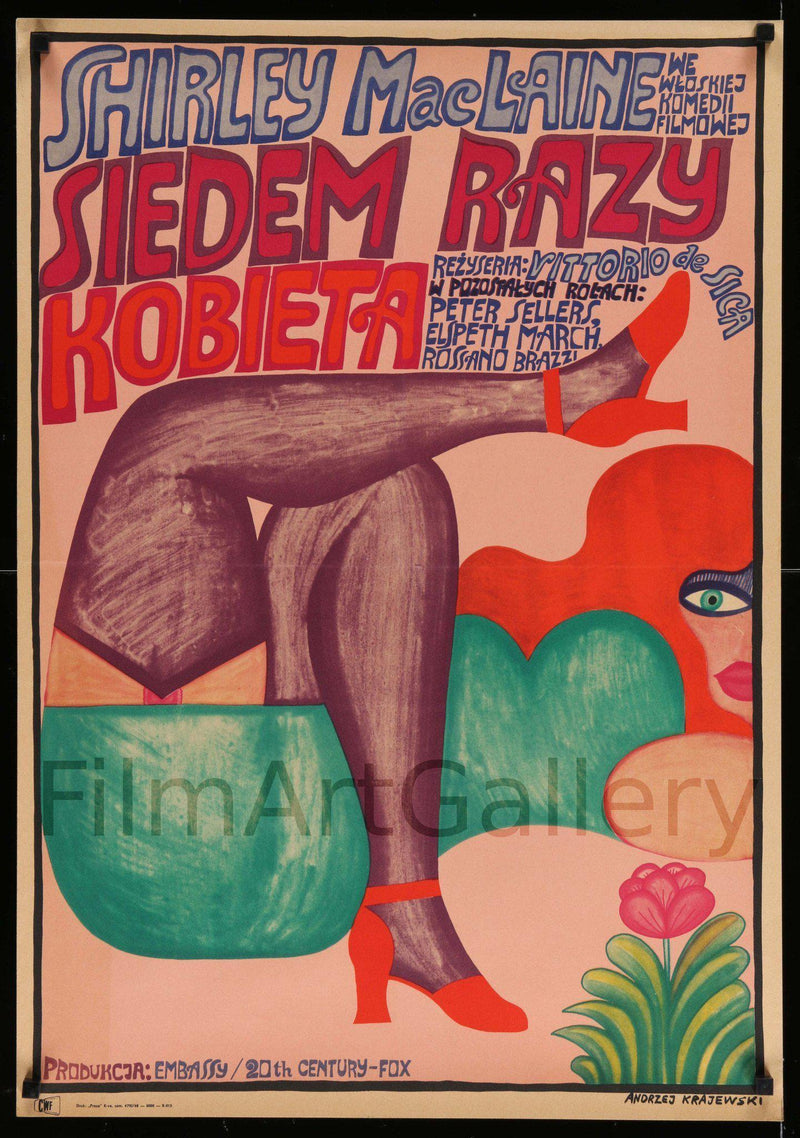 Woman Times Seven 7 Polish A1 (23x33) Original Vintage Movie Poster