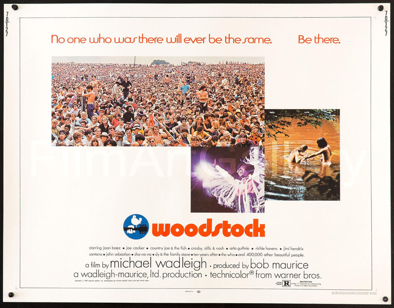 Woodstock Half Sheet (22x28) Original Vintage Movie Poster