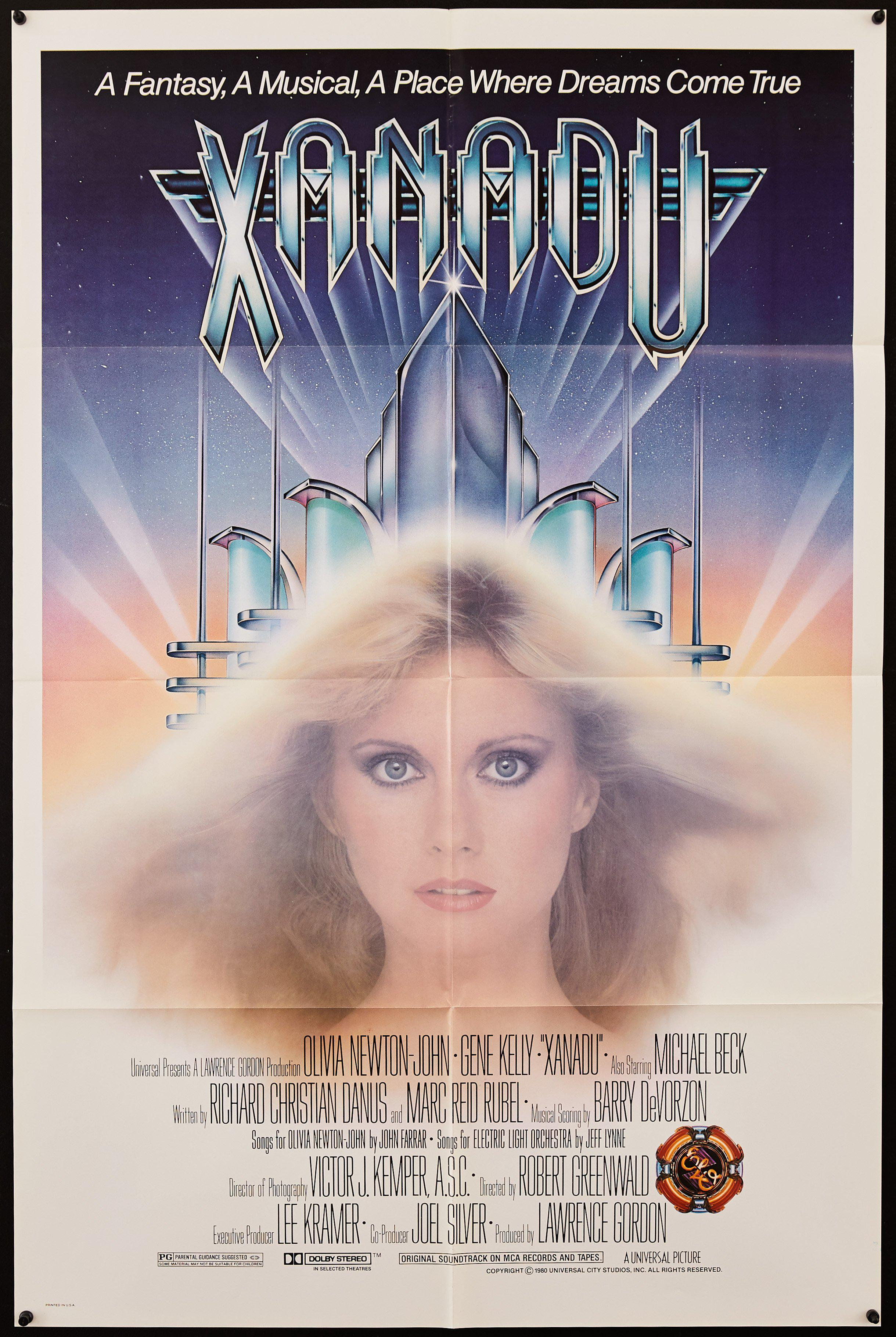 Xanadu 1 Sheet (27x41) Original Vintage Movie Poster
