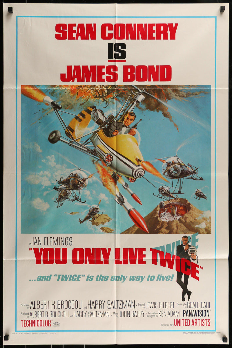 You Only Live Twice 1 Sheet (27x41) Original Vintage Movie Poster