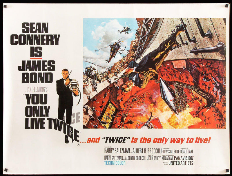 You Only Live Twice British Quad (30x40) Original Vintage Movie Poster