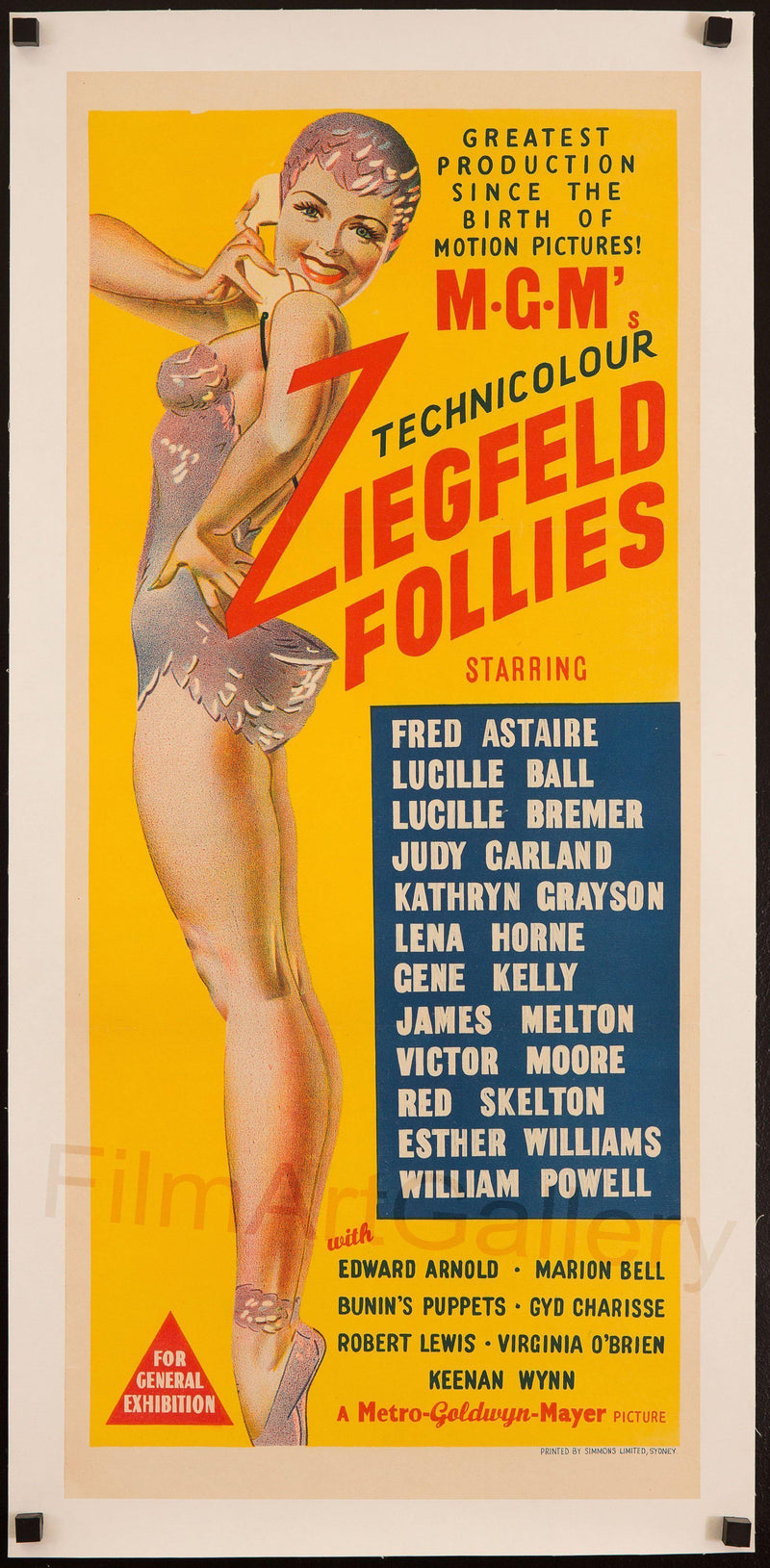Ziegfeld Follies Australian Daybill (13x30) Original Vintage Movie Poster