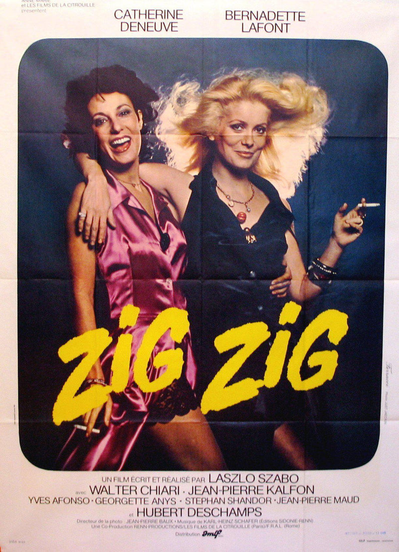 Zig Zig French 1 panel (47x63) Original Vintage Movie Poster